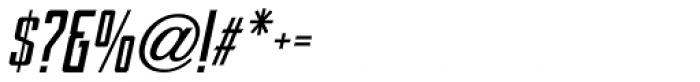 Sign Shop Bold Oblique JNL Font OTHER CHARS