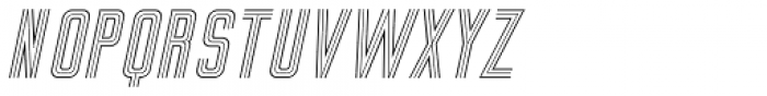 Sign Studio Oblique Font UPPERCASE