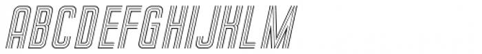 Sign Studio Oblique Font LOWERCASE