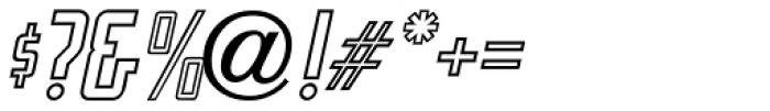 Sign Trade Oblique JNL Font OTHER CHARS
