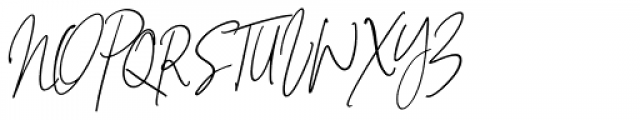 Signature Collection Italic Font UPPERCASE