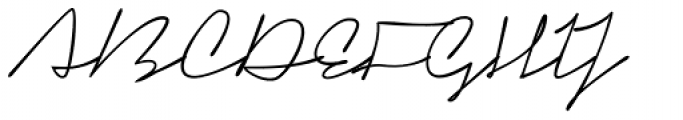 Signerica Medium Font UPPERCASE