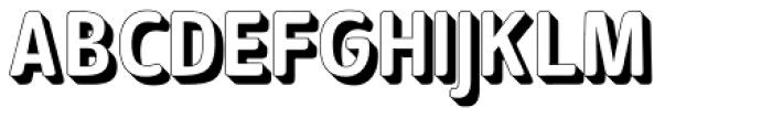 Signor 3D Font LOWERCASE