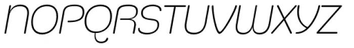 Silicone ExtraLight Italic Font UPPERCASE