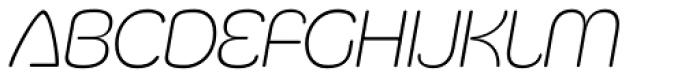 Silicone ExtraLight Italic Font LOWERCASE
