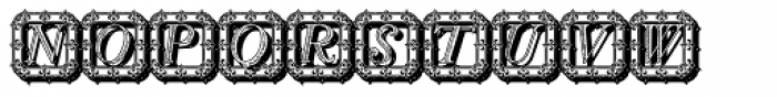 Silius Engraved 2 Shadow Font LOWERCASE