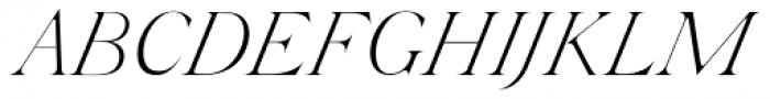 Silk Serif Extra Light Italic Font UPPERCASE