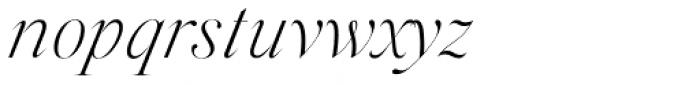 Silk Serif Extra Light Italic Font LOWERCASE