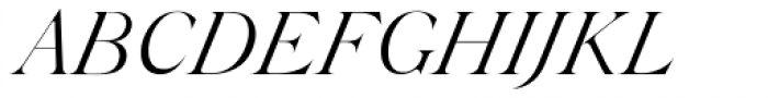 Silk Serif Light Italic Font UPPERCASE