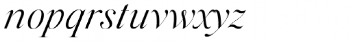 Silk Serif Light Italic Font LOWERCASE