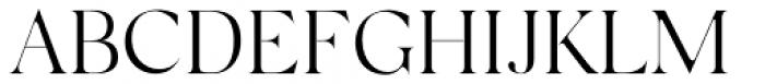 Silk Serif Light Font UPPERCASE