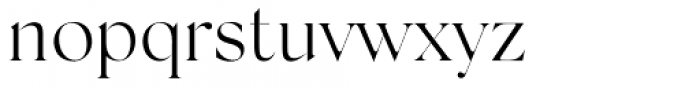 Silk Serif Light Font LOWERCASE