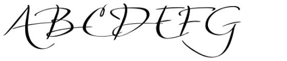 Silken Thread Font UPPERCASE