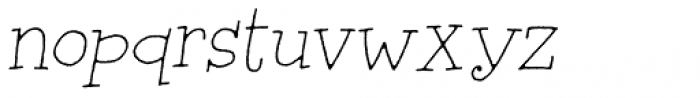 Silly Notes Italic Font LOWERCASE