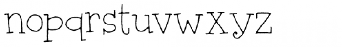 Silly Notes Regular Font LOWERCASE