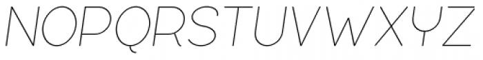 Silo Extra Light Italic Font UPPERCASE