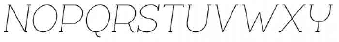 Silo Slab Extra Light Italic Font UPPERCASE