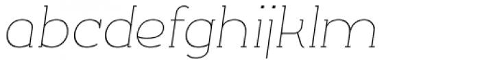 Silo Slab Extra Light Italic Font LOWERCASE