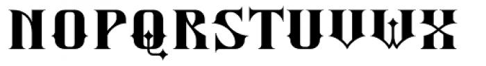 Silverblade Regular Font UPPERCASE