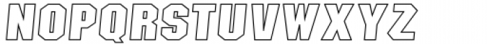 Sima Maung Italic Hollow Font UPPERCASE