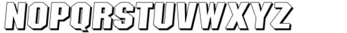 Sima Maung Italic Shadows Font UPPERCASE