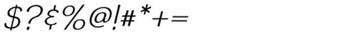 Simiate Oblique Font OTHER CHARS