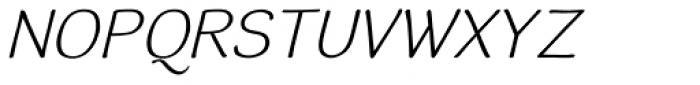 Simiate Oblique Font UPPERCASE