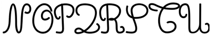 Simple Ronde Bold Font UPPERCASE
