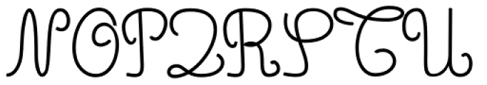 Simple Ronde Font UPPERCASE
