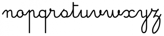 Simple Ronde Font LOWERCASE