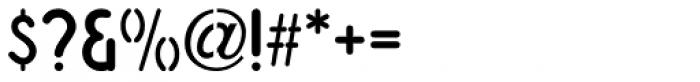 Simple Stencil JNL Font OTHER CHARS