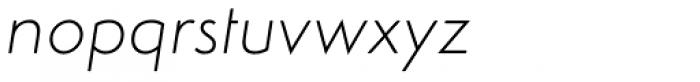 Simplo Soft Thin Italic Font LOWERCASE