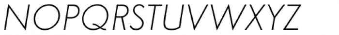 Simplo Thin Italic Font UPPERCASE