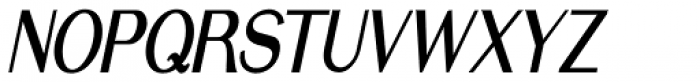 Simply Grotesk Condensed Oblique JNL Font UPPERCASE