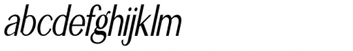 Simply Grotesk Condensed Oblique JNL Font LOWERCASE