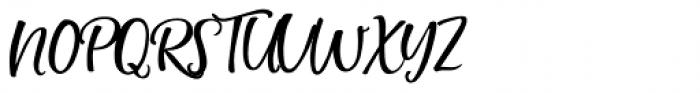 Simply Sweet Script Upright Font UPPERCASE