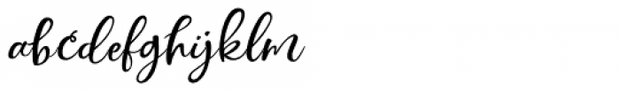 Simply Sweet Script Font LOWERCASE