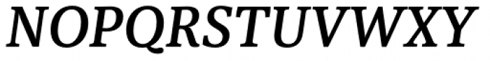Sindelar Medium Italic Font UPPERCASE