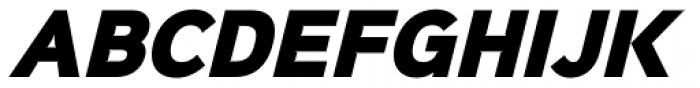 Sinkin Sans Narrow 900 X Black Italic Font UPPERCASE