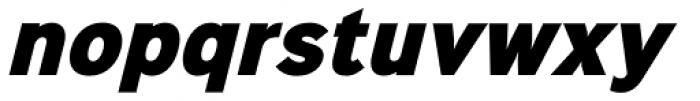 Sinkin Sans Narrow 900 X Black Italic Font LOWERCASE