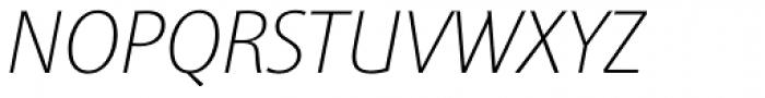 Sinova Pro Thin Italic Font UPPERCASE