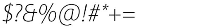 Sinova Std Thin Italic Font OTHER CHARS