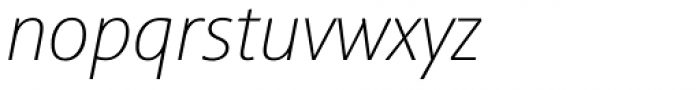 Sinova Std Thin Italic Font LOWERCASE
