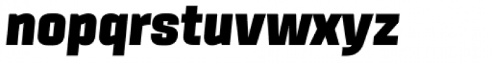 Sinter Ultra Italic Font LOWERCASE