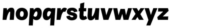 Sintesi Sans Black Italic Font LOWERCASE