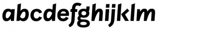 Sintesi Sans Bold Italic Font LOWERCASE