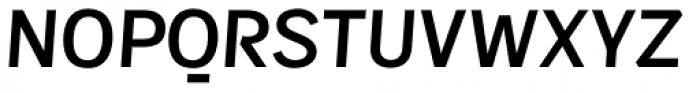 Sintesi Sans DemiBold Italic Font UPPERCASE