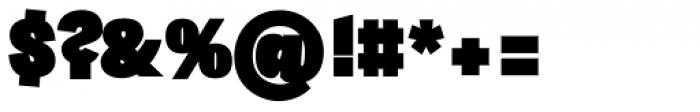 Sintesi Sans UltraBlack Font OTHER CHARS