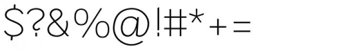 Sintesi Sans UltraLight Font OTHER CHARS