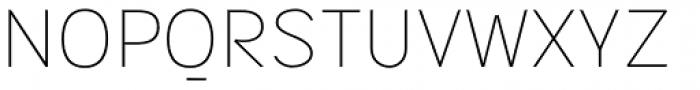 Sintesi Sans UltraThin Font UPPERCASE